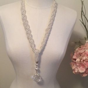 Antique pearl and Crystal Necklace